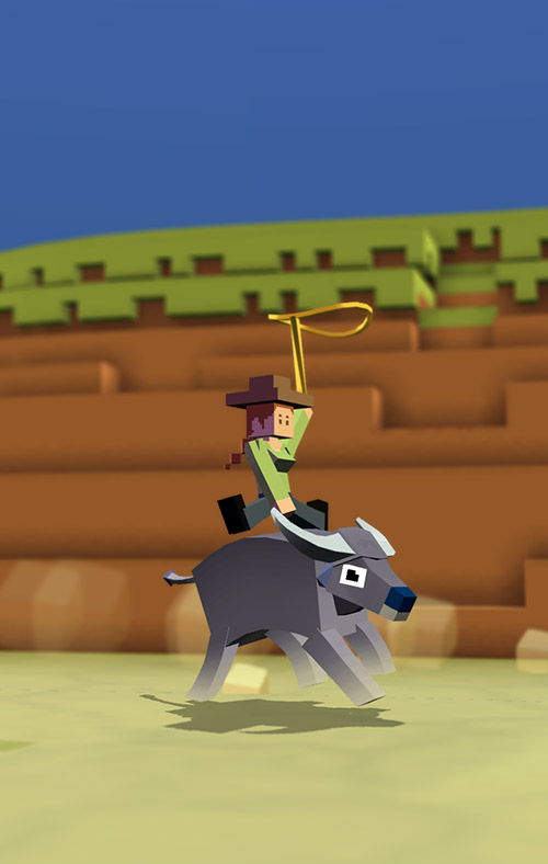 Rodeo Stampede on iOS and Android, Available June 23 2016