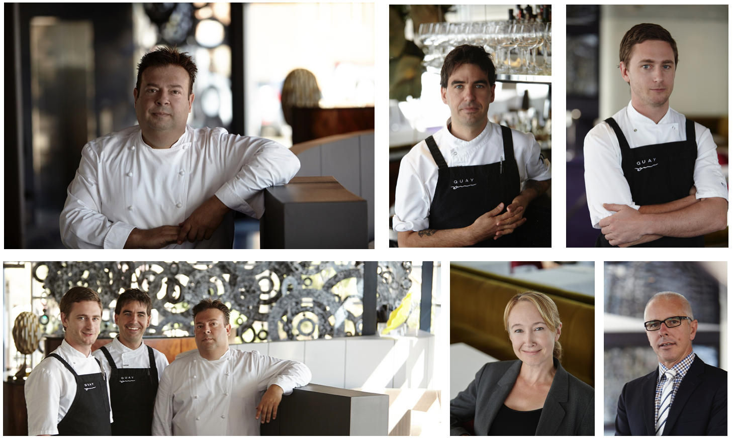 Quay Restaurant's Peter Gilmore, sous chefs and managers.