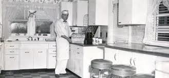 Cedric in his Kitchen in 1950