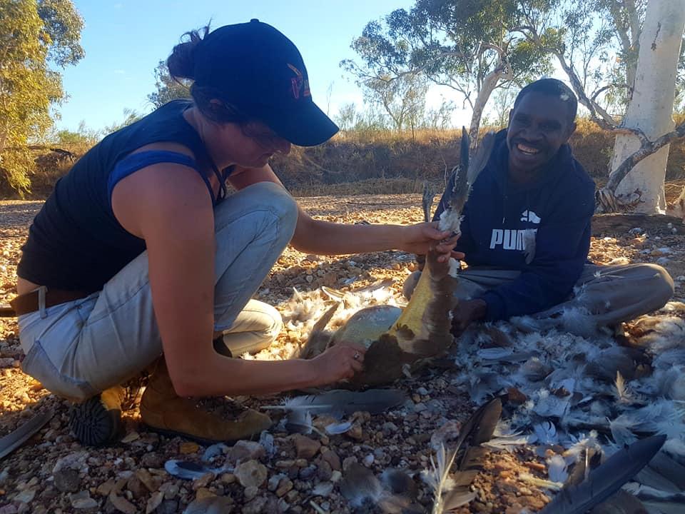 Bush turkey processing with Byron Ryan in Karlamilyi (2019).