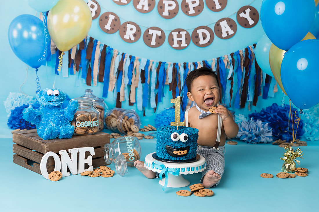 Austin Texas Cookie Monster Cake Smash