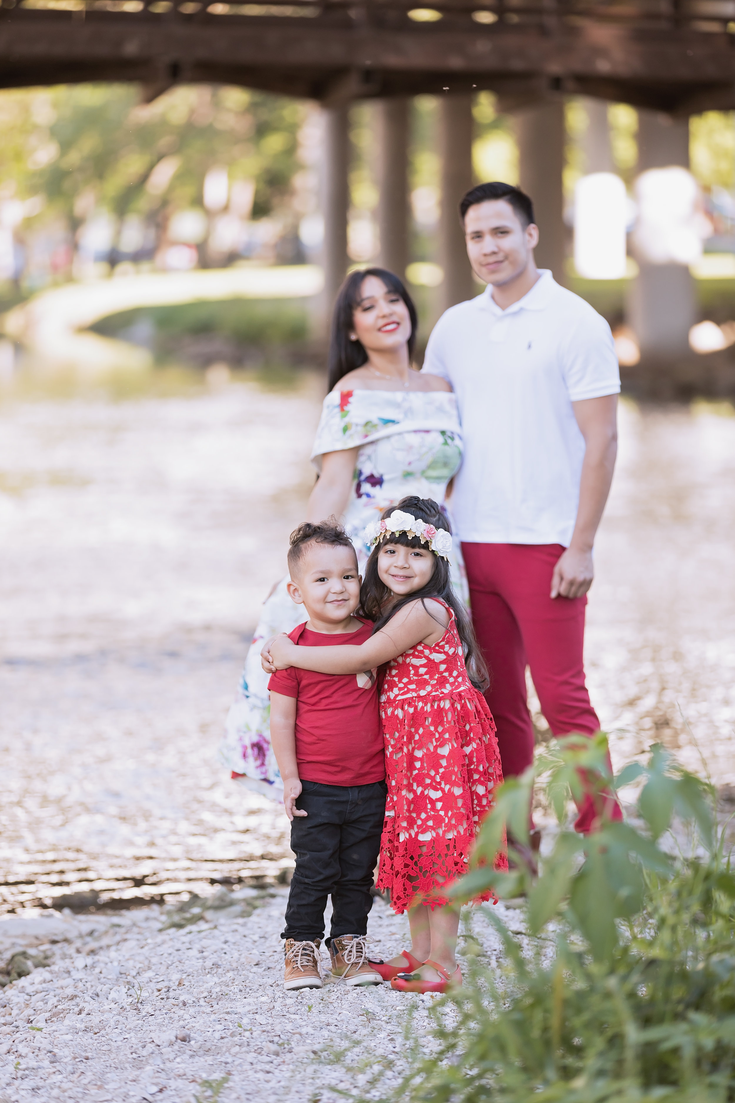 family by the water memorial park round rock