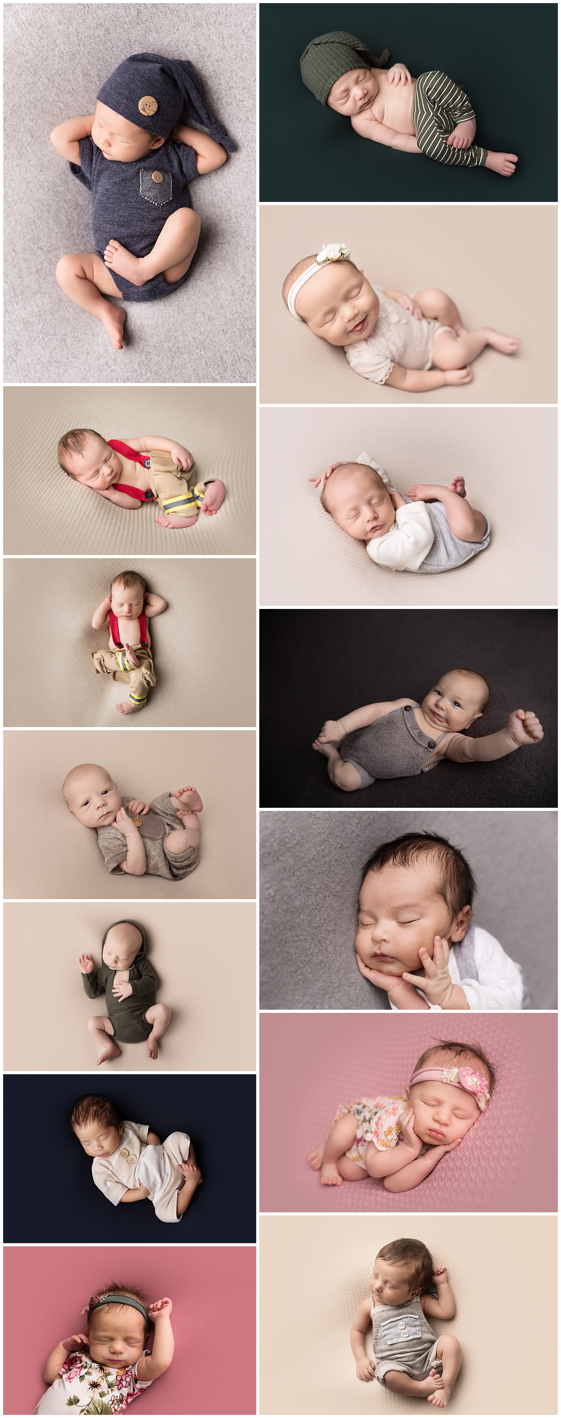 random unnamed newborn beanbag poses