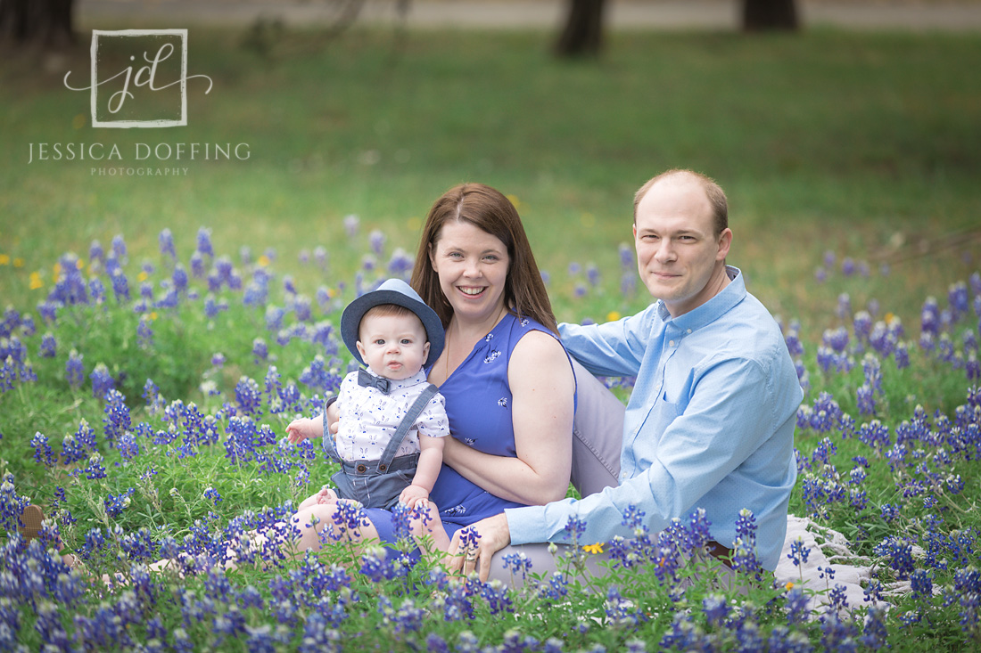 family baby boy bluebonnets