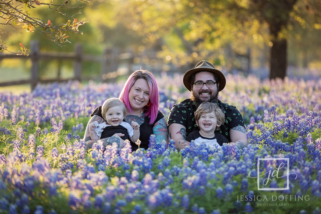 family austin barton springs bluebonnets sunset