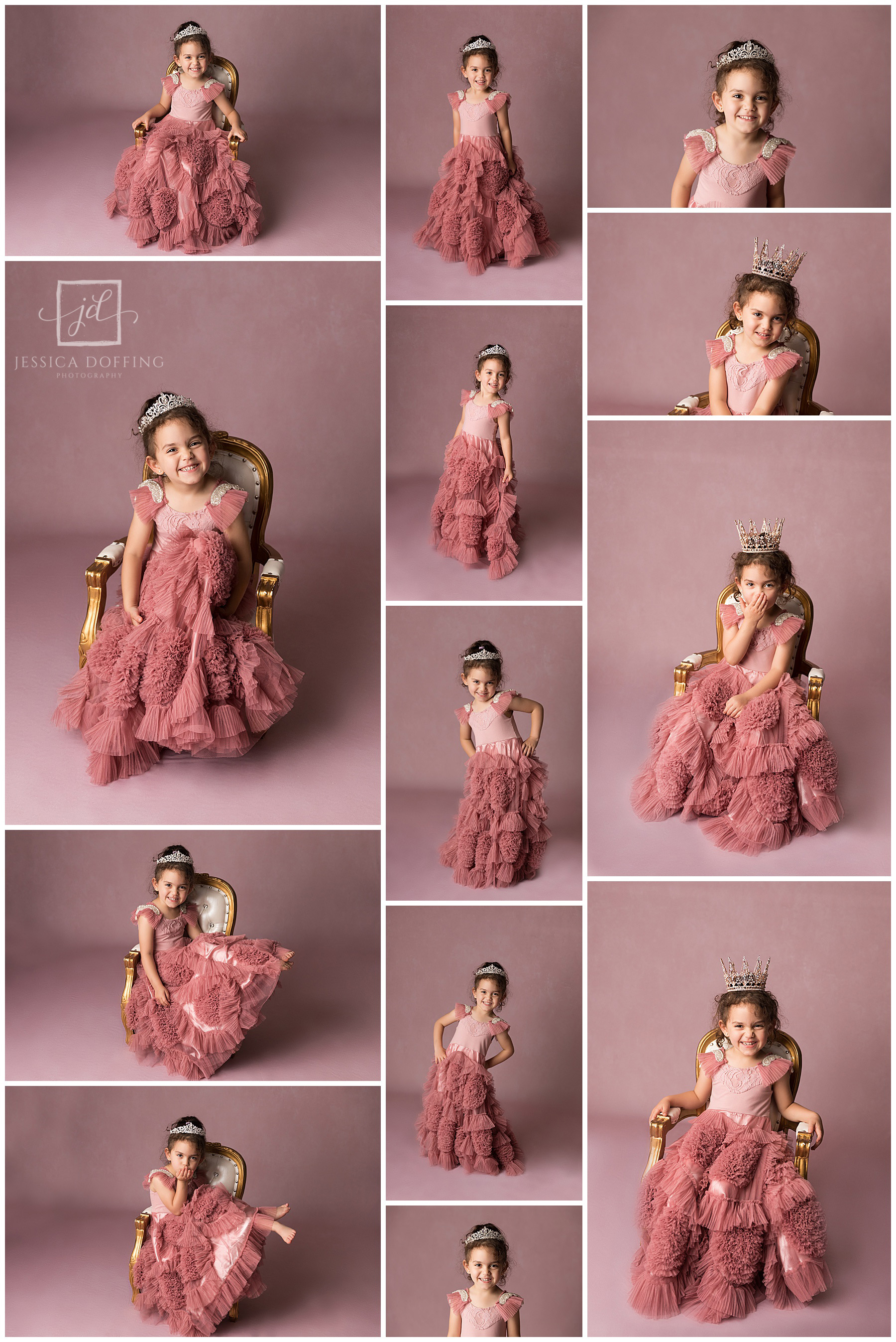 pink princess photo shoot