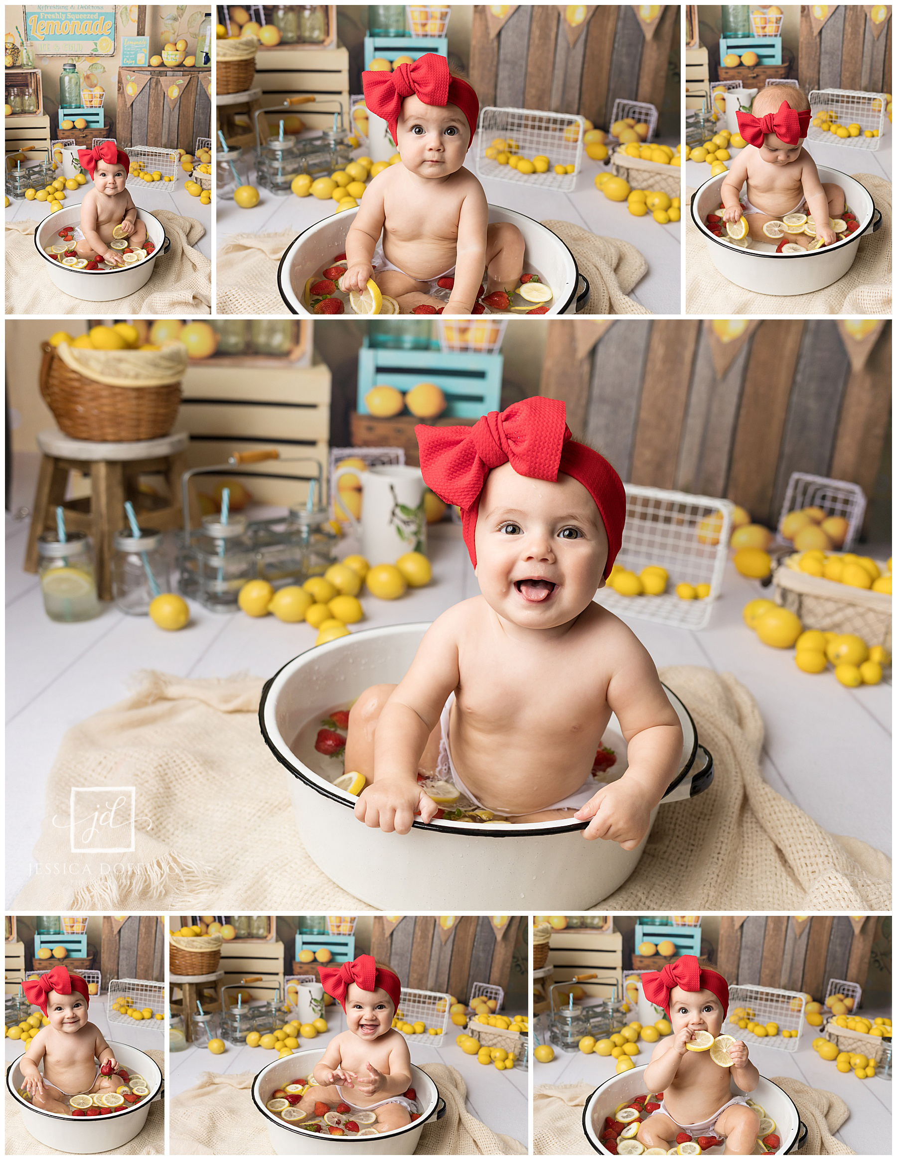 austin texas baby mini session fruit bath