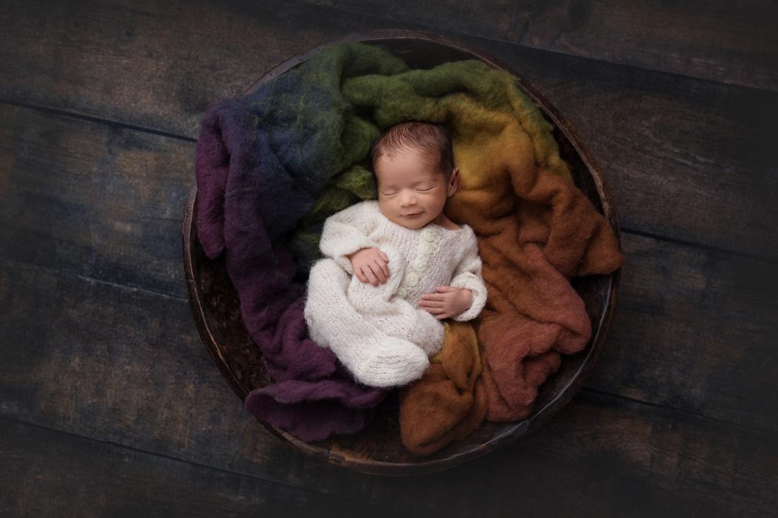 rainbow baby newborn boy