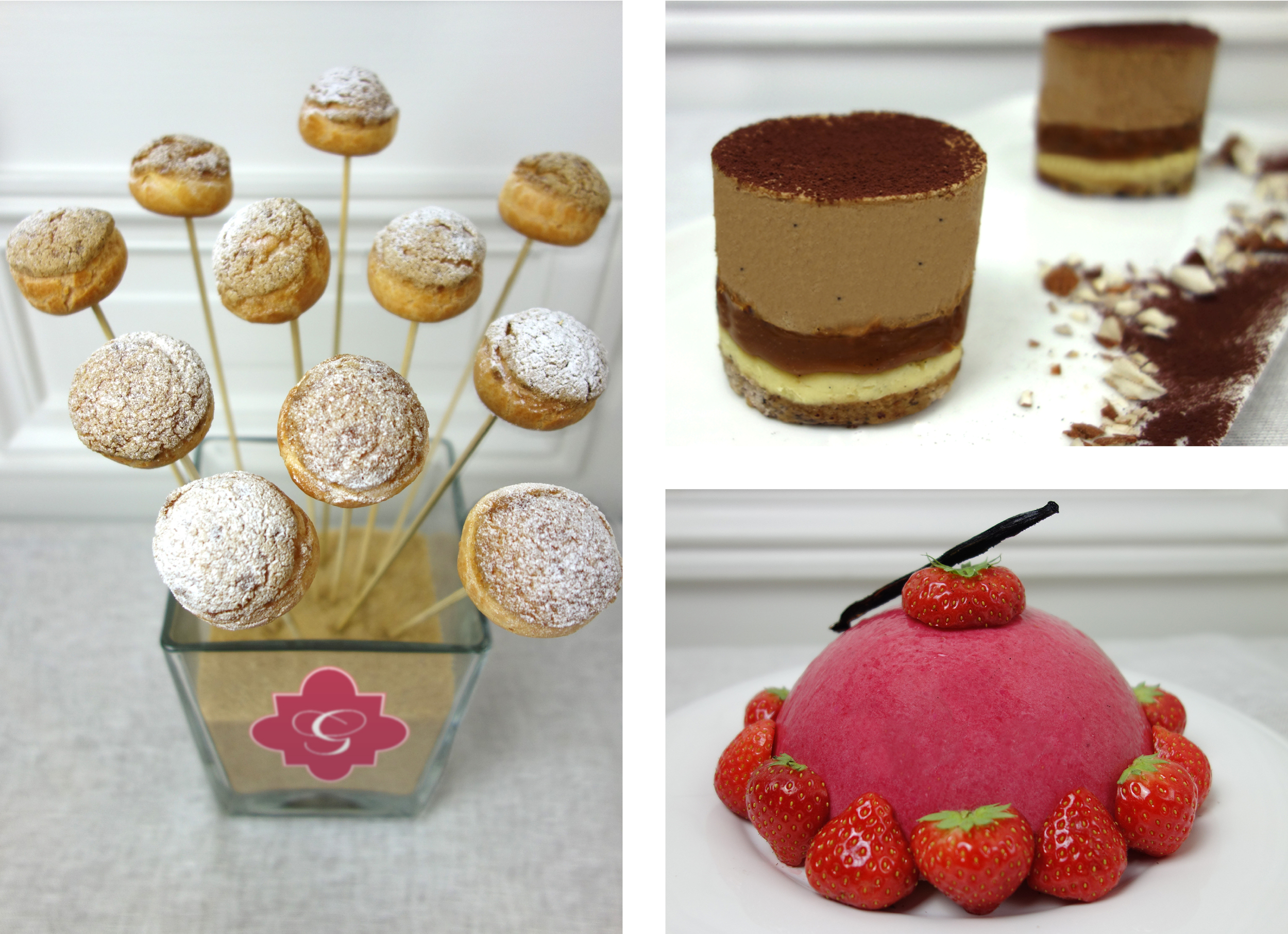 Food Photography that I took of the desserts for La Patisserie de Grace and are on her new website
