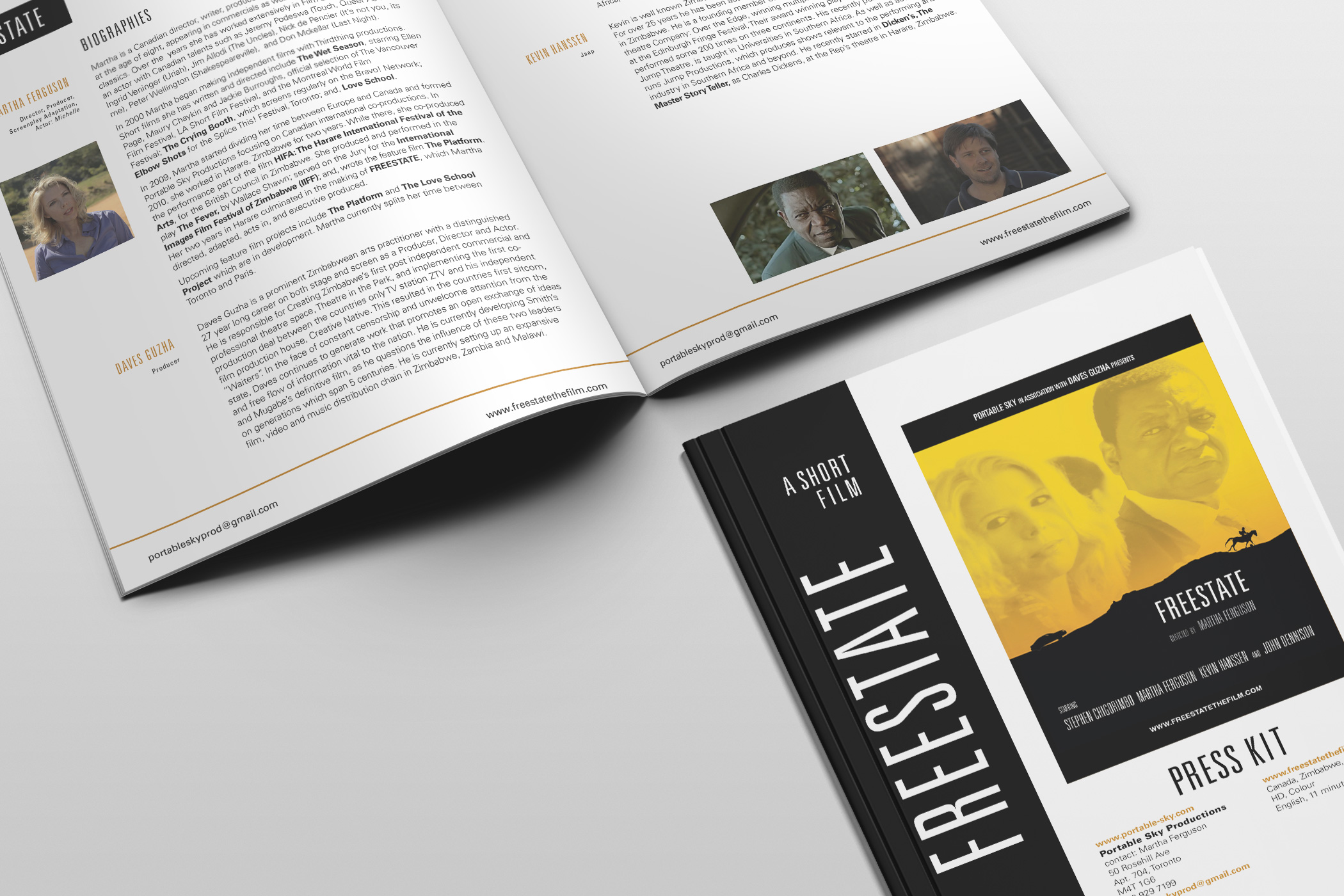 Press kit for Freestate, a short film