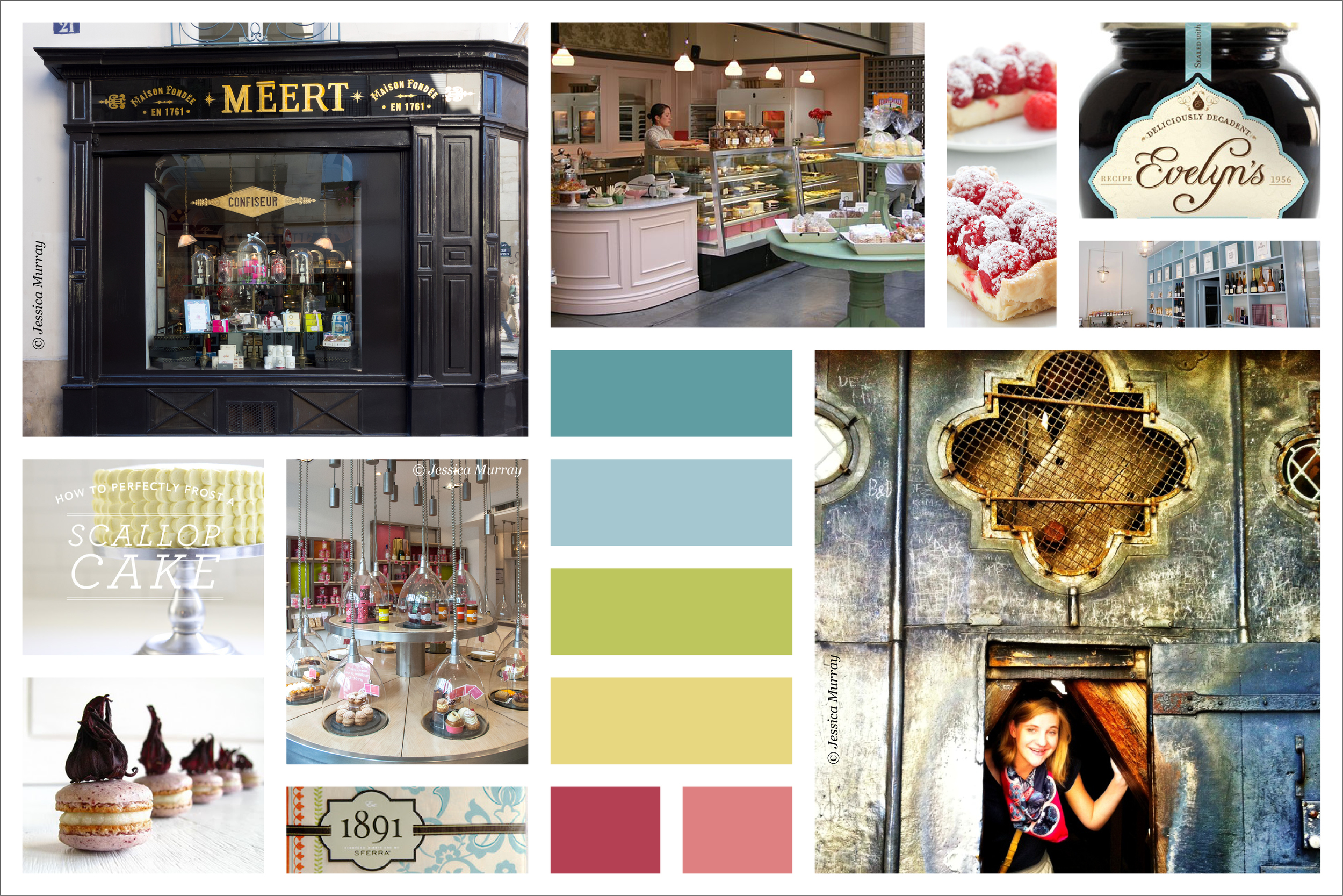 la Patisserie de Grace mood board for branding.