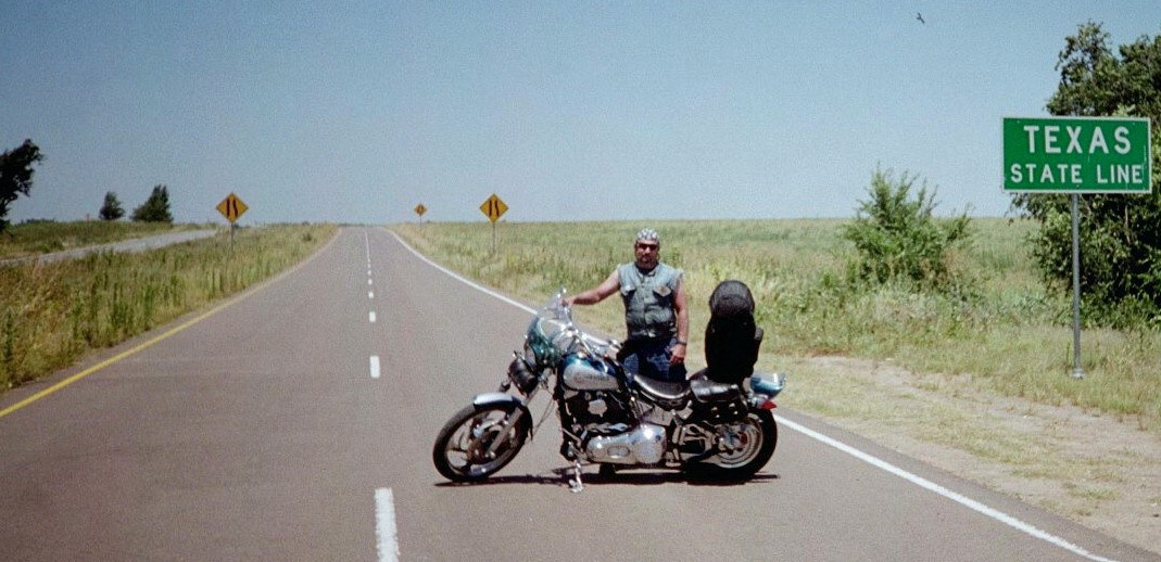 Don at the Texas state line.