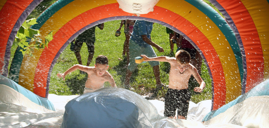 Swimming and Slip-n-slide