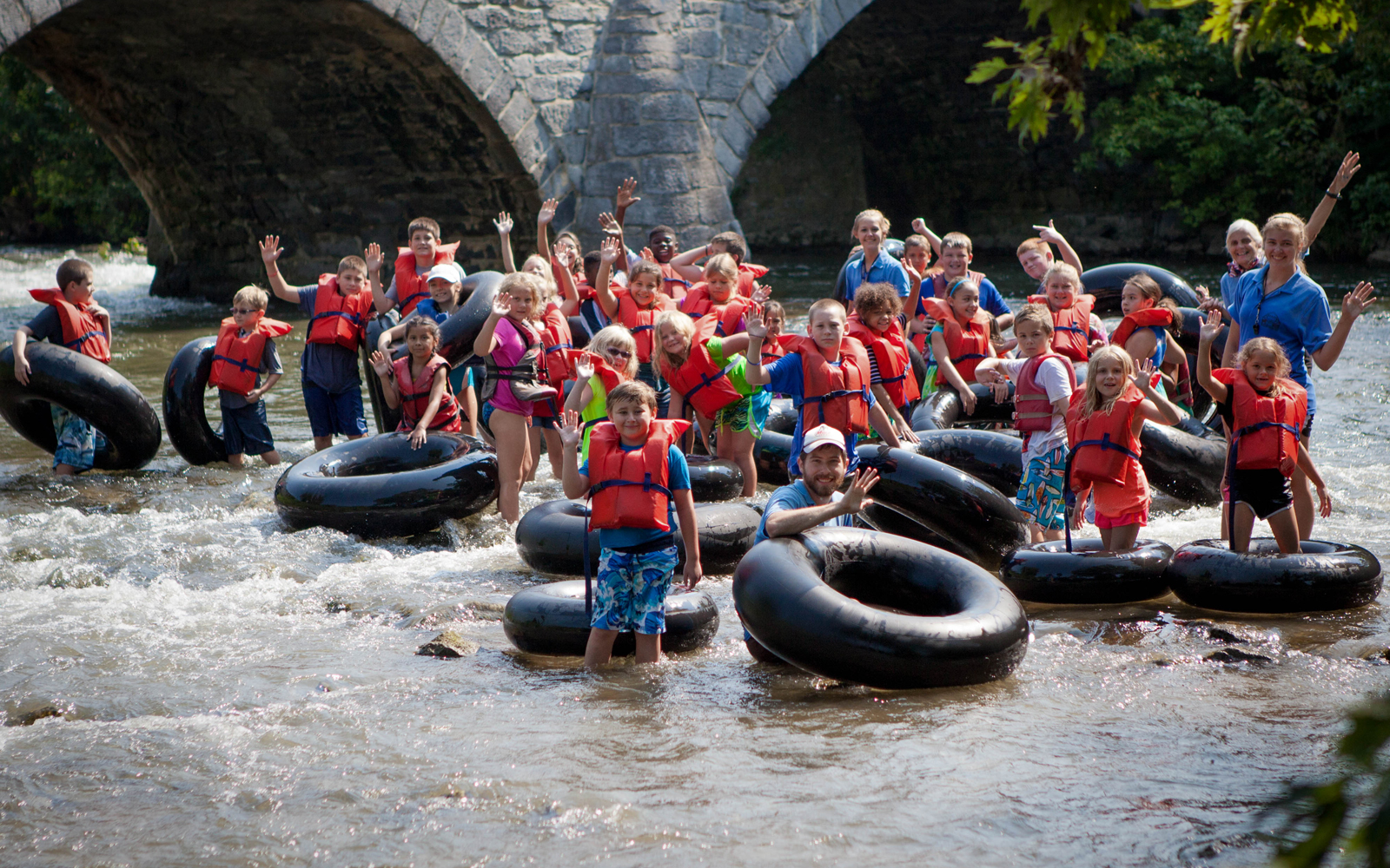 Tubing and water fun at the Antietam Creek