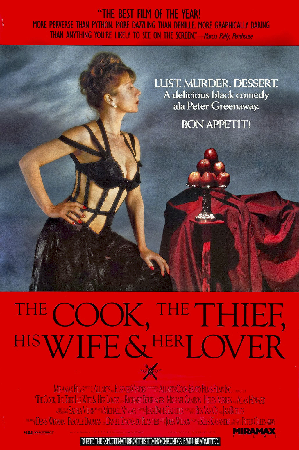 THE COOK, THE THIEF, HIS WIFE, AND HER LOVER - American Poster 1.png