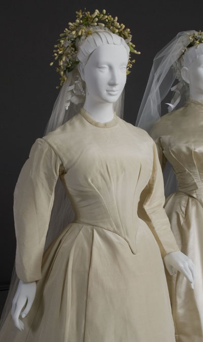 Frances Macbeth Glessner's wedding dress (Courtesy Chicago History Museum)