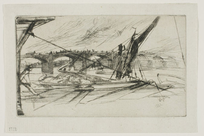 Vauxhall Bridge, 1861, James Abbott McNeill Whistler (Art Institute of Chicago)