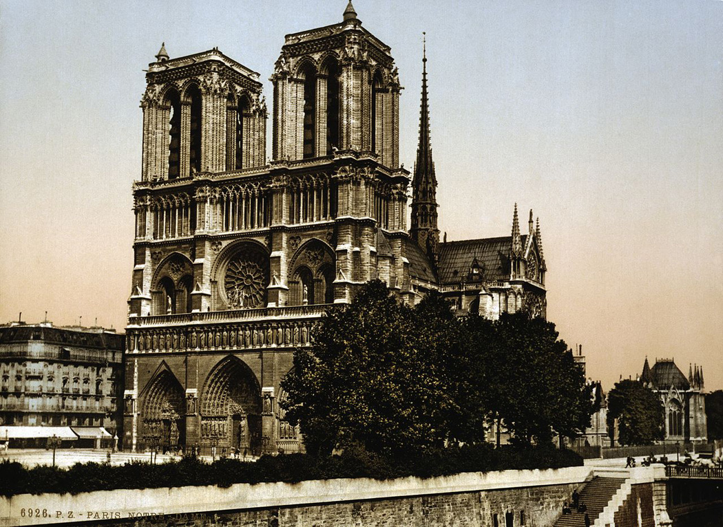 Notre Dame Cathedral in the 1890s