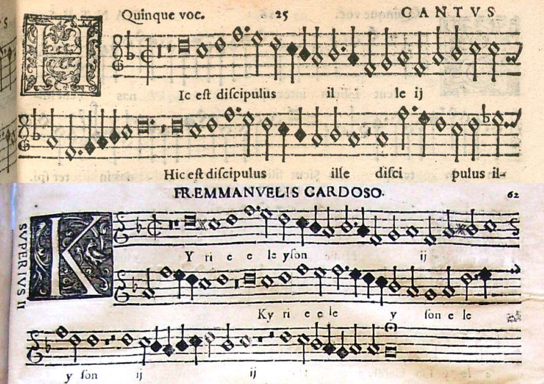 Top: Palestrina  Cantus ; Below: Cardoso  Superius II