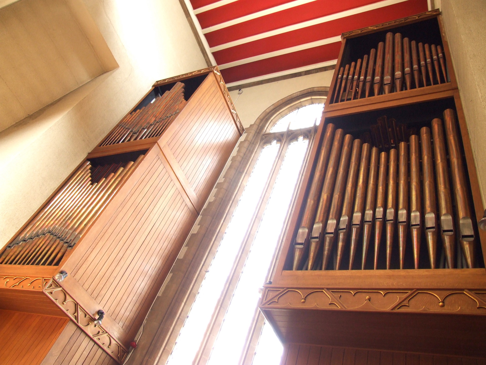 The organ cases - click to enlarge