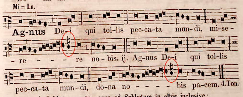 Agnus Dei from Missa Tempore Paschali, Pustet Kyriale, 1857
