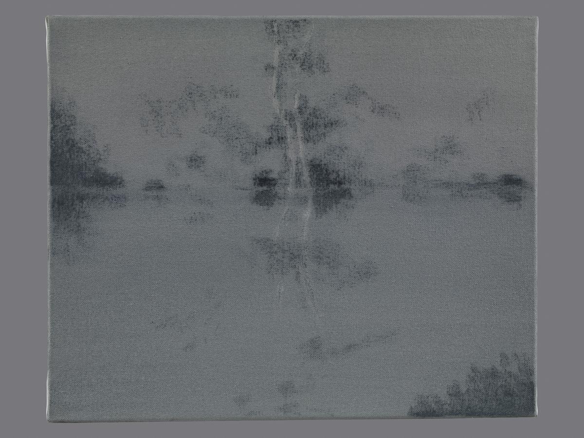 Immobile et sans voix. Gravure au soufre et eau forte. 25x33 cm. 2013