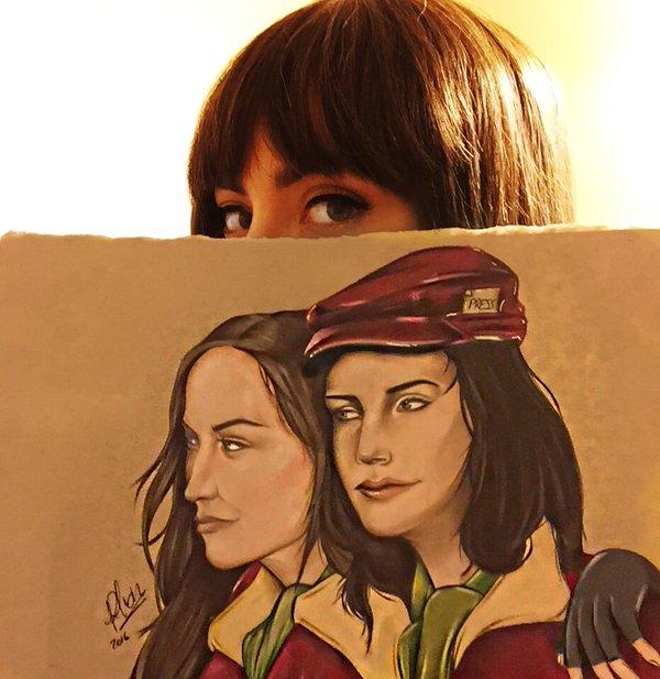 From Courtney on Twitter,fan artwork by @bornthisjesss