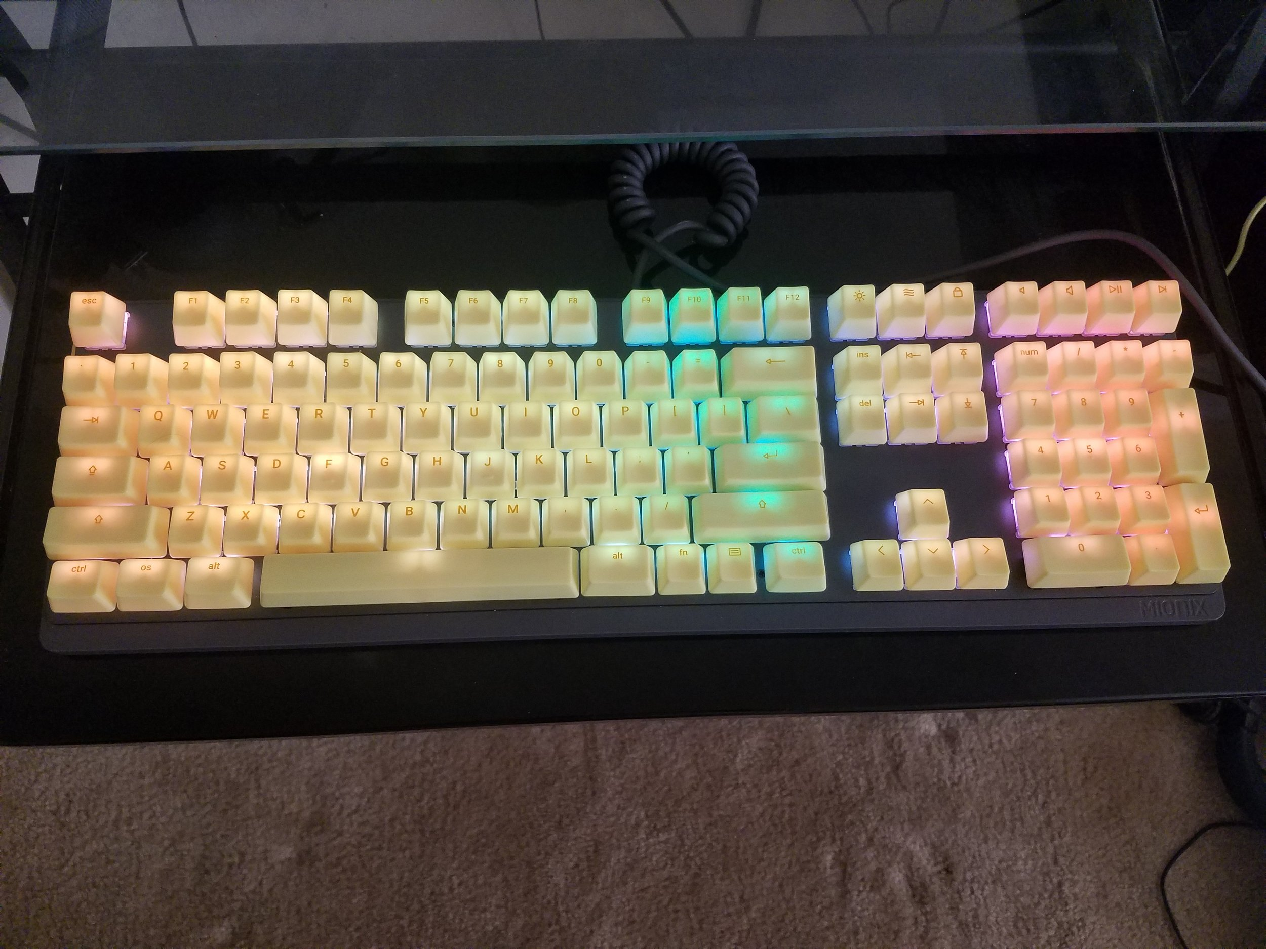 The Mionix Wei in all of its glory!