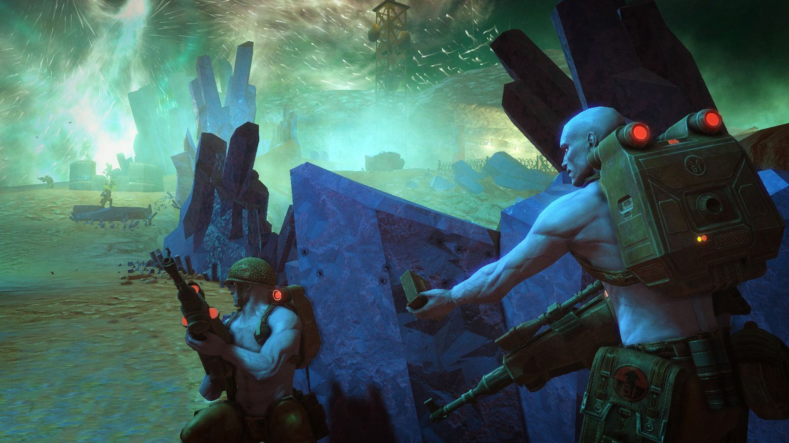 There's plenty of opportunity for Squad Based mechanics in this Third Person Shooter as well