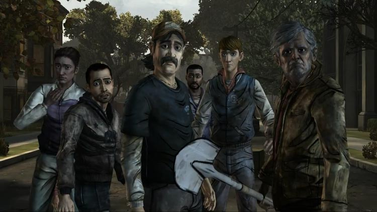 Some of the Walking Dead's main cast - the decisions you make will affect their future