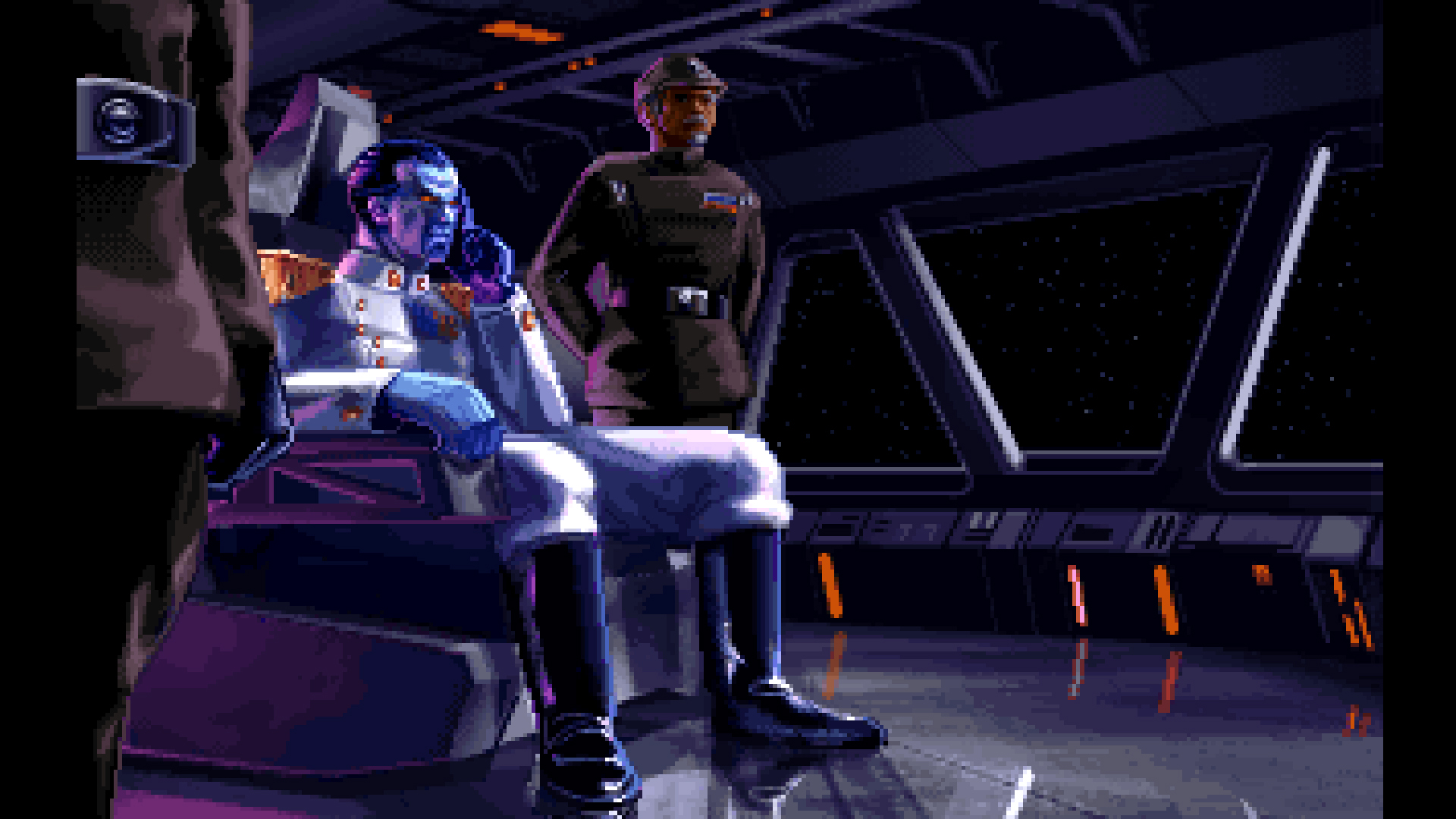 Tie Fighter also featured the new character Admiral Thrawn created by Timothy Zahn