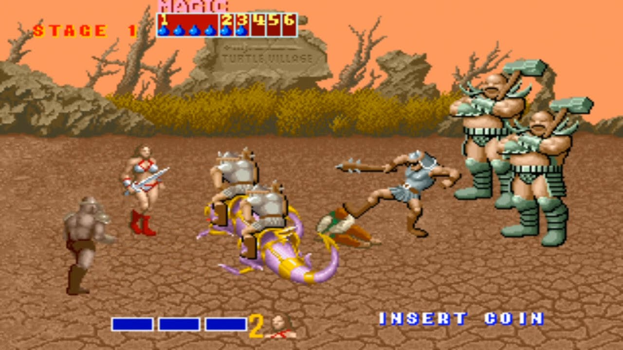 Golden Axe projected players into the world of Fantasy with Giants and Dragons