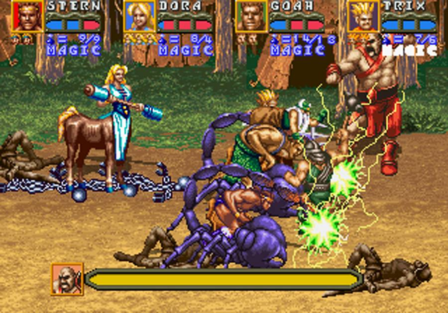 The Sequel coin op to Golden Axe - The Revenge of Death Adder was a massive improvement