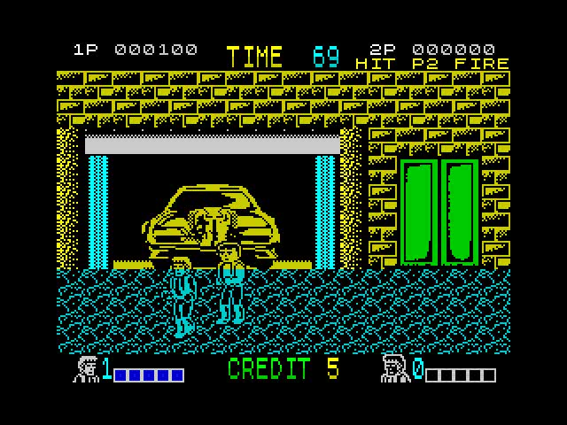 The ZX Spectrum version complete with it's famous colour clash - not a bad port to be honest