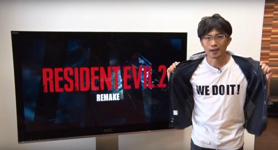 Capcom's Yoshiaki Hirabayashi announcing the remake back in 2015