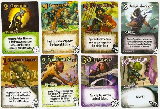 Examples of minions from the base set