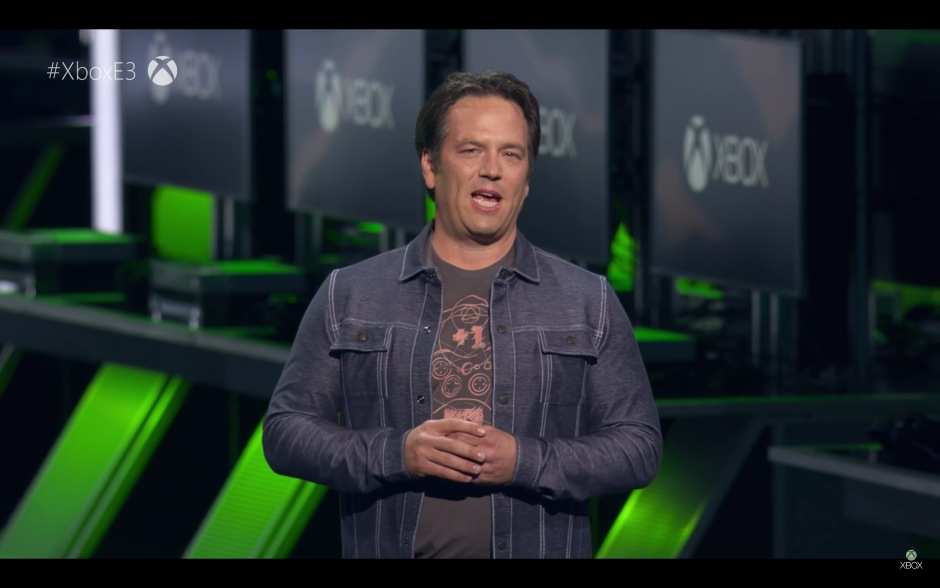 Microsoft's President of Gaming Phil Spencer at the Xbox E3 2018 Briefing