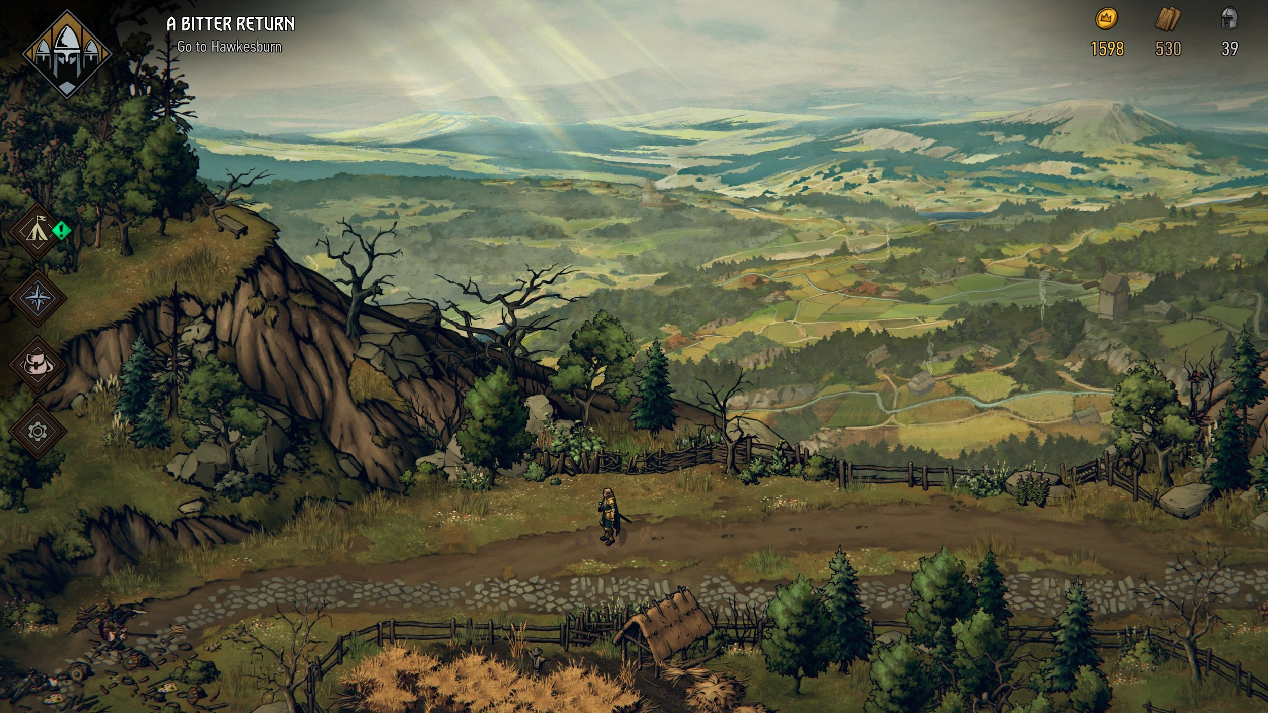 The whole game is like a water colored painting in true Witcher style.