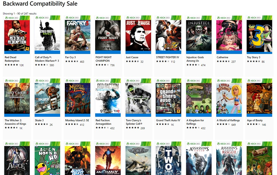 Microsoft Is Hosting Huge Backwards Compatibility Sale Right