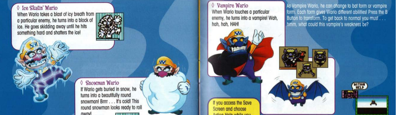 Some of Wario's Reactions in Wario Land 3