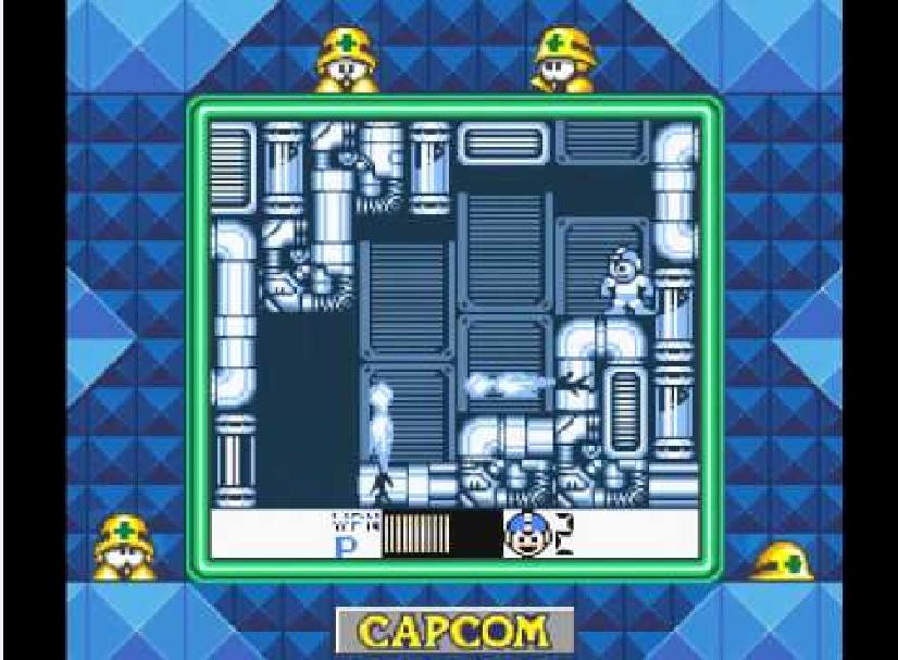 Mega Man V GB  being played on a Super Game Boy.