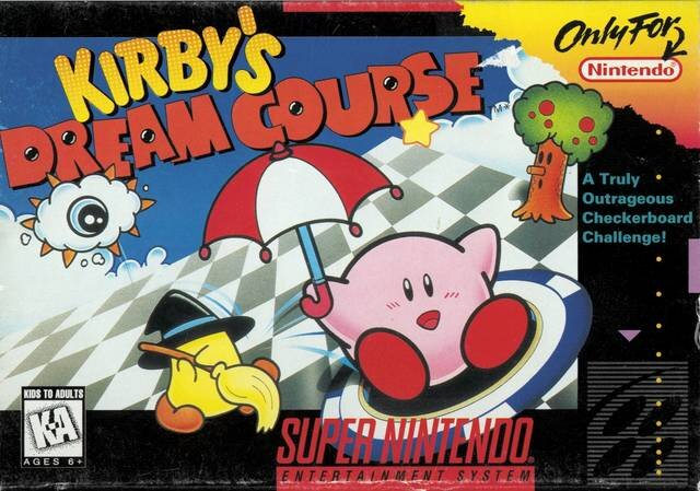 North American Box Art for  Kirby's Dream Course