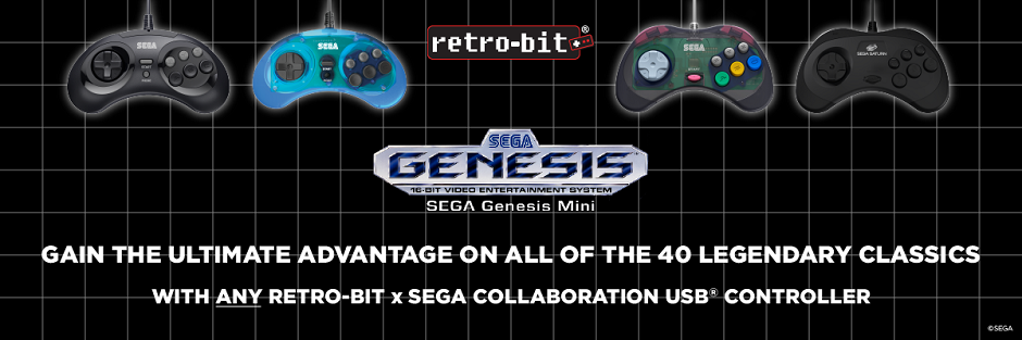 As a reminder all USB retro-Bit Sega products will also work on the Genesis Mini!