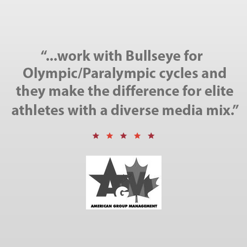 """I've worked with Bullseye Communications for several Olympic / Paralympic cycles for my clients in U.S. Water Polo, U.S. Field Hockey, U.S. Paralympics Cycling, U.S.A. Hockey, U.S. ParaNordic Skiing and U.S. Ski Team and no matter the athlete, I have found with Karen and her team they want to make a difference for the elite athletes that represent the United States of America with a diverse media mix which truly helps everyone.""    Brant Feldman    CEO, American Group Management"
