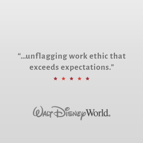 """Karen impressed the team with her quick grasp of a complex place, an unflagging work ethic that exceeded expectations, a positive attitude, solid writing/pitching skills and complete professionalism. Karen energizes any enterprise in which she is involved.""    Michelle Baumann    Public Relations Manager, Walt Disney World"