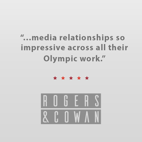 """I worked with Karen on the 2018 PyeongChang Olympics.  Karen, along with her whole team at Bullseye, were an absolute pleasure to work with.  Their media relationships were so impressive and so helpful for myself and my clients.""    Laura Potesta    Account Supervisor, Rogers & Cowan"