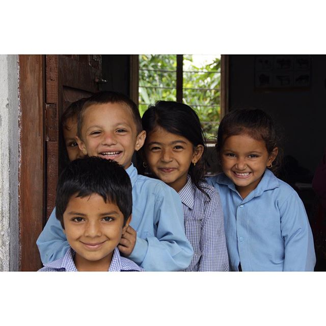All smiles at Jana Chetana Primary School after Karma Flights' successful reconstruction of their classroom .  Jana Chetana Primary School is located in Bhalam, Nepal on the outskirts of Pokhara. A section of the school was heavily damaged following the April 25th earthquake. The Karma Flights team worked hard to repair the school and ensure that students were able to safely return to their classrooms.  #KarmaFlights #Pokhara #Nepal #Bhalam #RebuildNepal #HelpNepal #ChildrenOfNepal #BeautifulNepal #NepalEarthquake #EarthquakeRelief #HumanitarianRelief #NepalEducation #NepalNGO