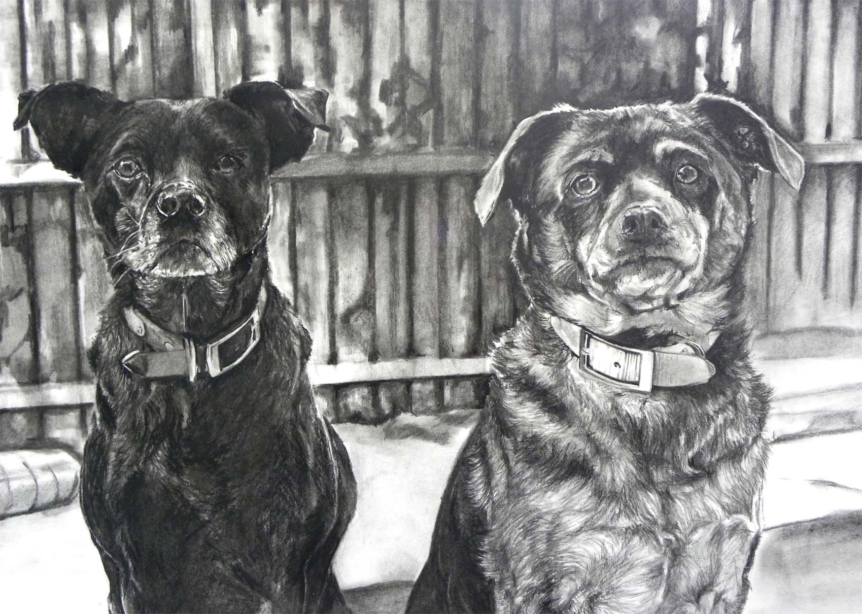 "Two Mutts, 18""x24"""