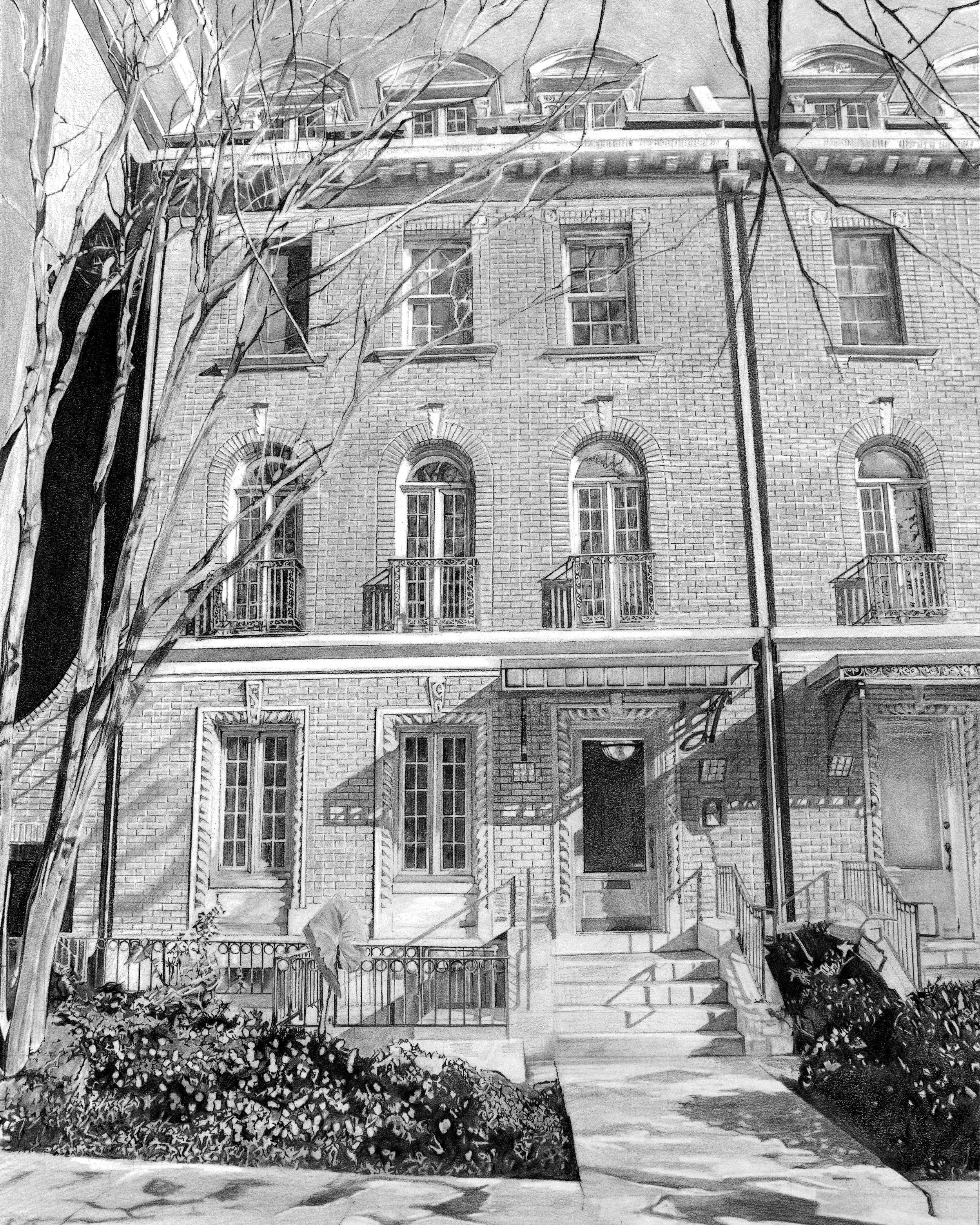 """Woodley Park DC Apartment, 11""""x14"""""""