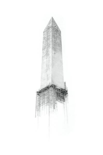 """Washington Monument, 18""""x24"""""""